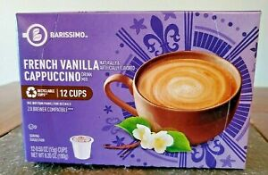 12 Pack Barissimo French Vanilla Cappuccino Coffee K-Cups Pods Keurig K Cup Mix