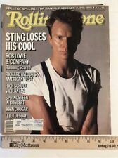 RollingStone Magazine #457 Sept 26 1985 Sting, Rob Lowe, Bruce Springsteen DP12