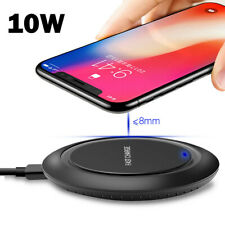 For Samsung S10+/e S8/S9 Plus Fast Wireless Charger 10W Quick Charging Pad Mat
