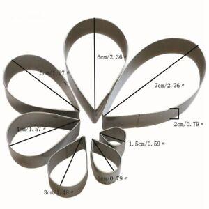 Polymer Clay Baking Tool Stainless Steel PetalSpiral DIY Flower Mold Cutter