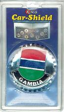 GAMBIA- Kings Car-Shield Fits ALL Auto Grills Emblem Brass, Chromium Finish-NEW