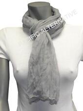 Foulard Gris 55x160 femme mixte chale leger echarpe NEUF scarf grey schal grau