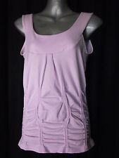 BNWT Womens Sz 14 Bella B Wear Designer Label Ice Pink Gathered Top RRP $55