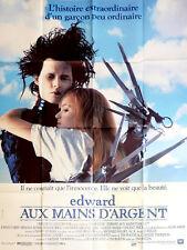 Affiche 120x160cm EDWARD AUX MAINS D'ARGENT 1991 Johnny Depp, Winona Ryder NEUVE