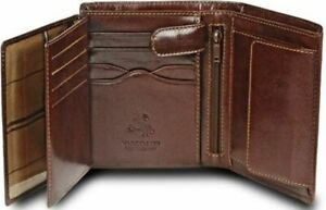 Visconti Real Leather Brown 8 Card Bifold Wallet  RFID Gift  Boxed MZ3