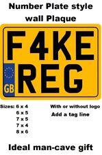 METAL WALL PLAQUE rear number plate style gift for bike Novelty motorcycle fan