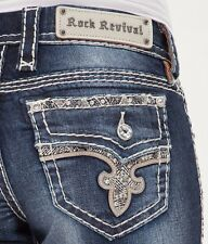 ROCK REVIVAL Jeans Low Rise Janelle Bootcut Stretch Jean 26 X 28 READ DESCRIPT