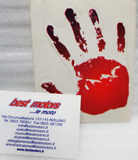 ADESIVO IMPRONTE MANO ROSSA MOTORCYCLE SCOOTER RED HAND PRINT STICKER DECAL