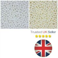 White or Ivory Glass Pearl Beads Bridal Wedding Pearls Bride 4mm 6mm 8mm 10mm ML