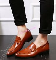 Mens Classic Pointed Toe New Chic Faux Leather Slip On Drive Dress Formal Shoes