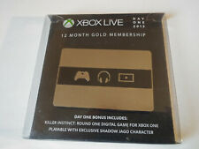 XBOX One DAY ONE 2013 Gold Membership Collectible -- CARD ONLY NO LIVE INCLUDED
