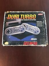 Acclaim Dual Turbo Wireless Controller Set Super Nintendo SNES Complete CIB