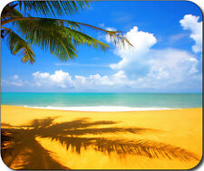 Scenic Beach Ocean Sand Tropical Palm Trees Large Mousepad Mouse Pad Great Gift
