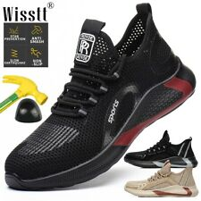 Men Mesh Safety Indestructible Shoes Steel Toe Cap Work Boots Summer Trainers AU