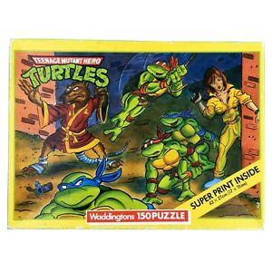 Teenage Mutant Hero Turtles Jigsaw Puzzle 150 Splinter Raphael April Vintage 89