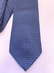 Charles Tyrwhitt black 100% silk tie with purple floral pattern - made in Italy