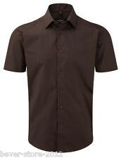 Russell Camisa de hombre manga corta talla especial entallada S M L Xl Xxl 3xl