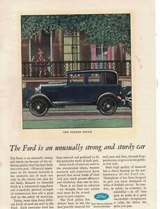 1929 Ford Model A Fordor Sedan Original ad  - - Scarce