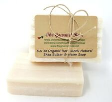 5.5 oz ORGANIC SHEA BUTTER & NEEM OIL SOAP Cold Processed 100% All Natural Pure