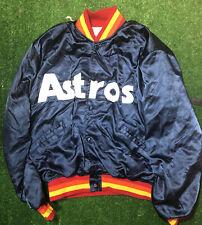 Vintage STARTER MLB Houston Astros Satin Nylon Jacket Small Navy Blue