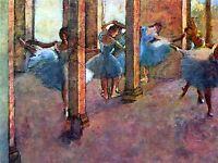 EDGAR DEGAS DANCERS IN FOYER OLD MASTER ART PAINTING PRINT POSTER 702OMA