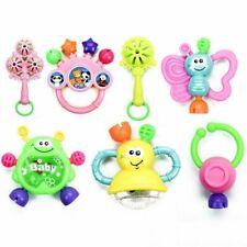 7Pcs Newborn Toddler Baby Shaking Bell Rattles Teether Toys Kids Hand Gift