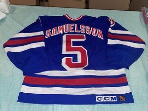 Adult 48 New York Rangers Ulf Samuelsson NHL Hockey Jersey Authentic CCM Cosby