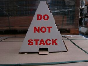 DO NOT STACK PALLET CONES PRINTED WARNING TRIANGLE