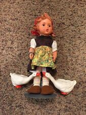 Goebel Doll Little Girl Two Geese Hang Tag Hummel Vinyl 11 Inches