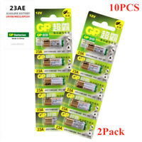 10 PCS GP SUPER A23 Alkaline Battery 12V 23AE MN21 K23A L1028 Single Batteries