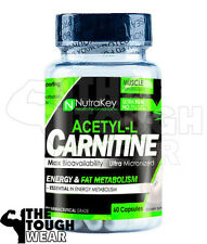 NUTRAKEY ACETYL-L CARNITINE 1000mg 60CAPS - ENERGY AND WEIGHT LOSS