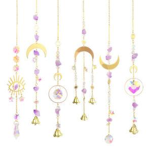 Crystal Sun Catcher Moon Prism Suncatcher Window Hanging Ornament Decor DIY