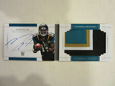 2014 National Treasures Jumbo Rookie Auto Booklet 4 Color Patch Marqise Lee 7/99