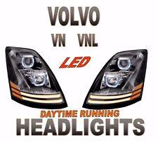 VOLVO VNL PROJECTOR HEADLIGHT SET DAYLIGHT RUNNING LIGHT LED
