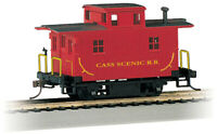 Bachmann 18445 HO Cass Scenic Railroad Wood 4-Wheel Bobber Caboose