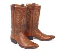 Leddy Classic Brown Cowboy Boots  - Size 8D - Vintage