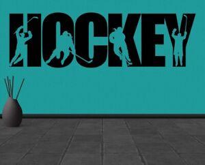 Hockey decal Hockey sticker Ice Sport svg Wall Vinyl Decal Sticker Decor TK2172