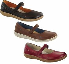 BIRKENSTOCK IONA WOMEN'S MARY JANES BALLERINA SHOES LEATHER FLATS RED BROWN NUT