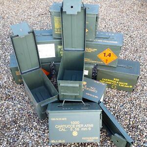 Ammo Box Ammo Can 50 Cal Grade 1 Metal Box Storage Box Storage Solution empty