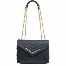 NINE WEST 💋 Jazlyn Navy Large Convertible Gold Chain Shoulder Bag Crossbody New