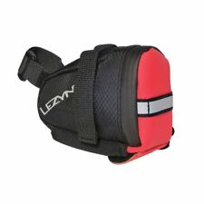 Lezyne S Caddy Road Touring MTB Bike Saddle Bag - Red Black