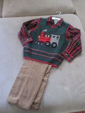 Nwt Class Club, Boys, 2/2T, 6, Holiday/Christmas 3-Pc. Outift-Train,Sweater Vest