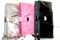 New Branded MUNDI Heather Crinkle Shiny Design Formal Wristlet Clutch Wallet $35