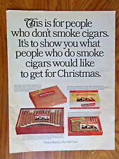 1967 Dutch Masters Cigar Ad Christmas For People who Don't Smoke What to Get
