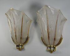 EZAN : PAIR OF FRENCH ART DECO WALL SCONCES ........ lamp bronze 1930 muller era