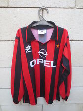 Maillot MILAN A.C vintage LOTTO maglia calcio football shirt manches longues 14