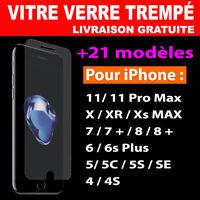 Vitre Film protection écran verre Trempé Pour iPhone 8/7/6/6S/Plus/5/X/XR/XS/MAX