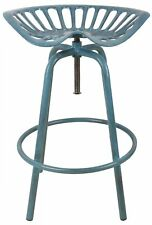 Esschert Design traktorstuhl Blue Bar Stool Chair Garden Chair Stool Vintage