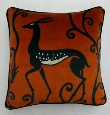 """Zoffany Fabric Cushion Cover 'DECO DEER VELVET - SAHARA' - 18"""" -  VELVET"""