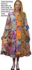 Nwt FUNKY STUFF floral gypsy cotton ROBE TOP DUSTER COVERUP 4X 30W Free shipping